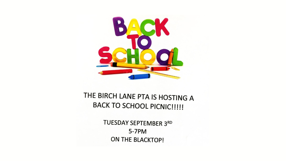 Back to School Picnic & PTA Info Fair