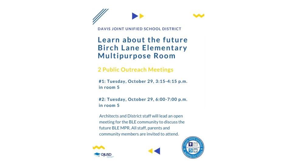 BLE Multipurpose Room Public Outreach